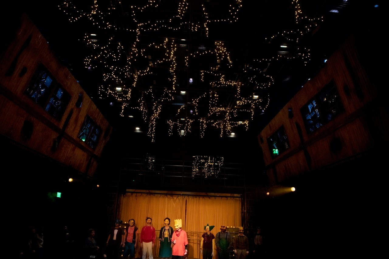 Mr. Burns production shot at the Telfair Peet Theatre at Auburn University.