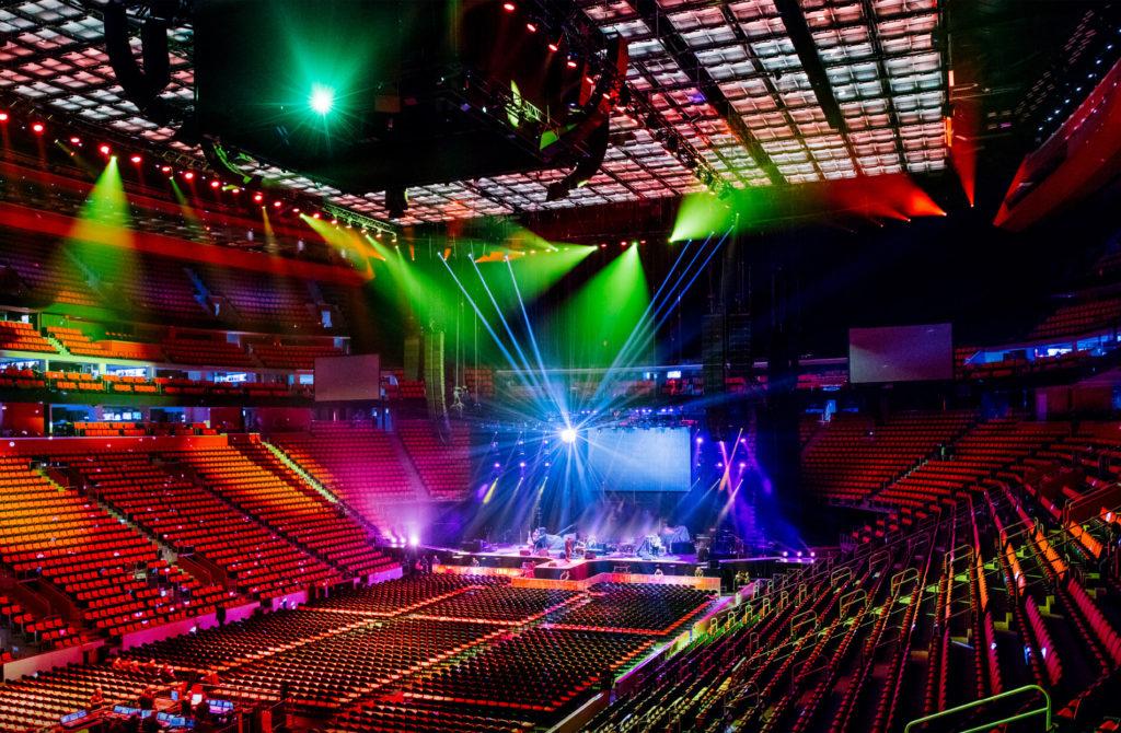 SkyDeck tension wire grid at Little Caesars Arena in Detroit, MI.