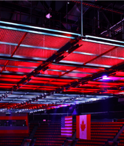 SkyDeck™ at Little Caesar's Arena. Lighting by and Illuminating Concepts