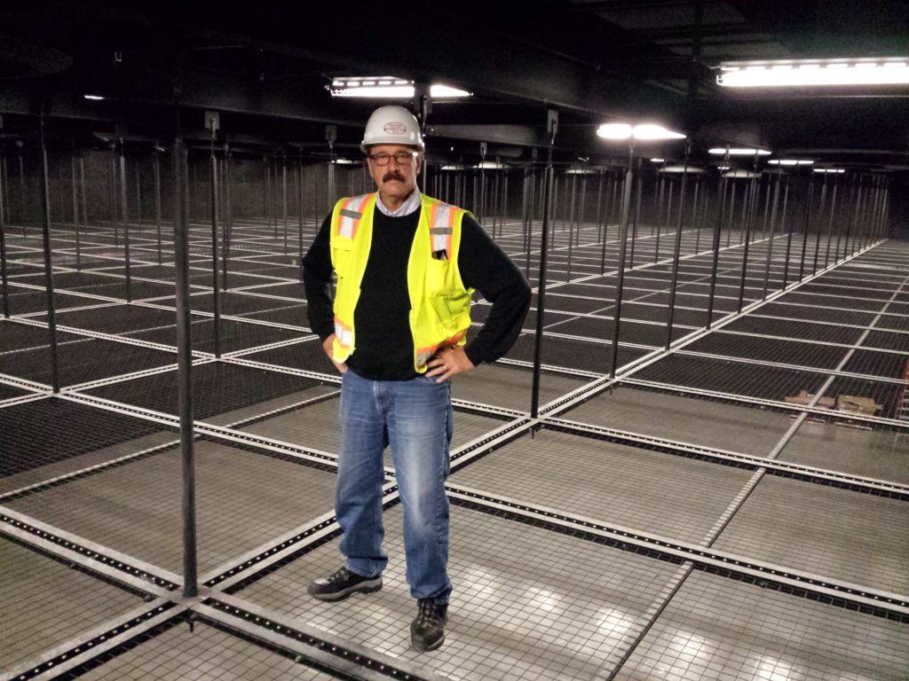 Mark Black at a production studio outfitted with SkyDeck™ Tension Wire Grid