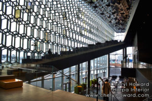 HARPA Concert Hall Interior by Cheryl Howard