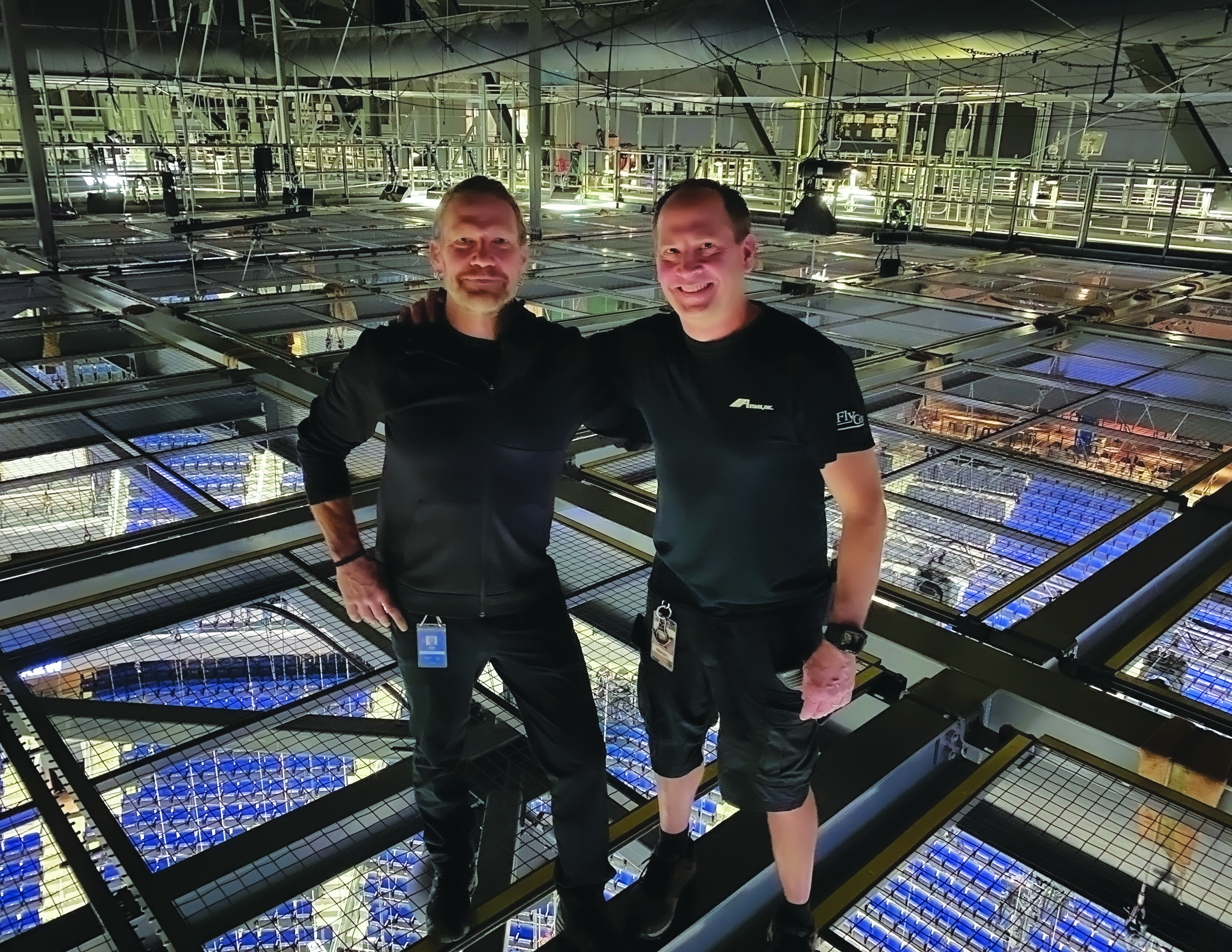 Bill Rengstl and Bob Powers on the SkyDeck™ at Chase Center