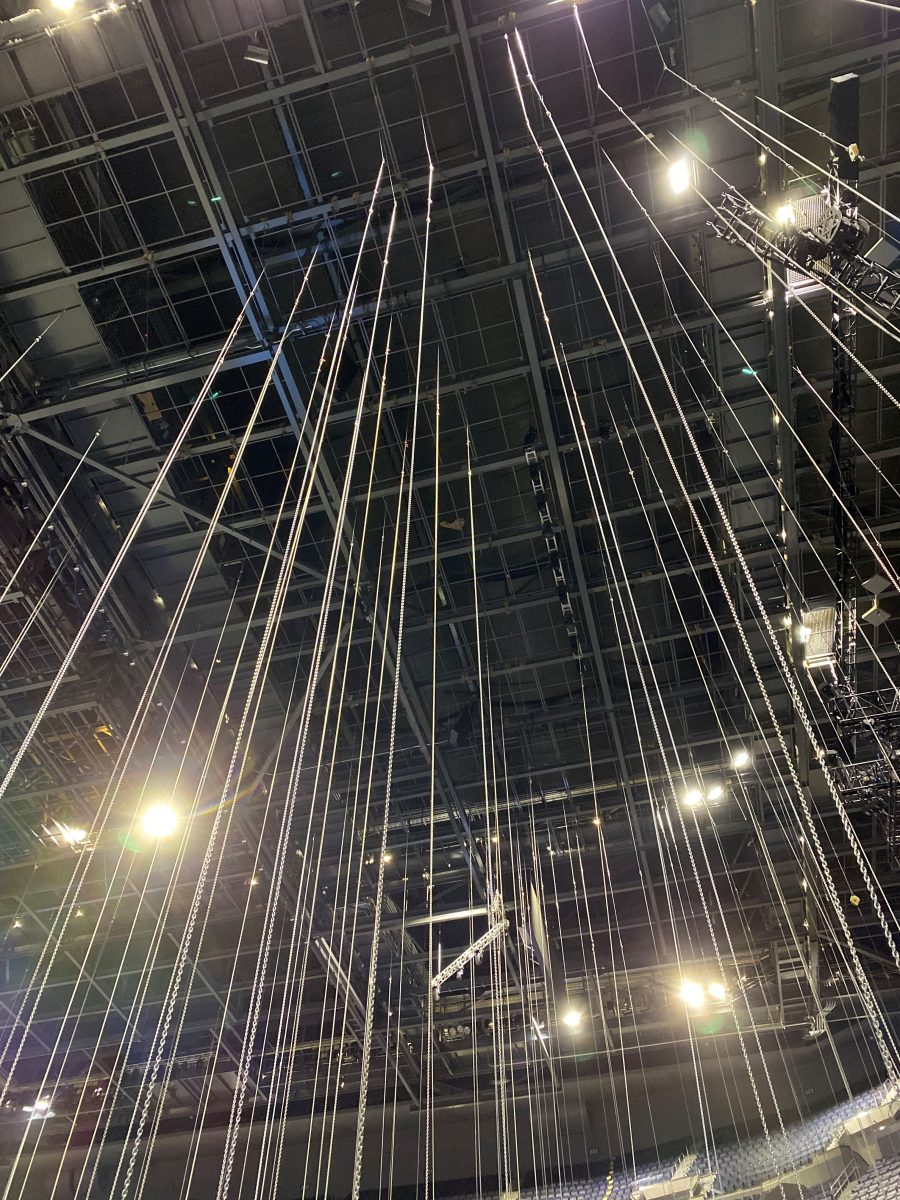 Chase Center during Ariana Grande Rig