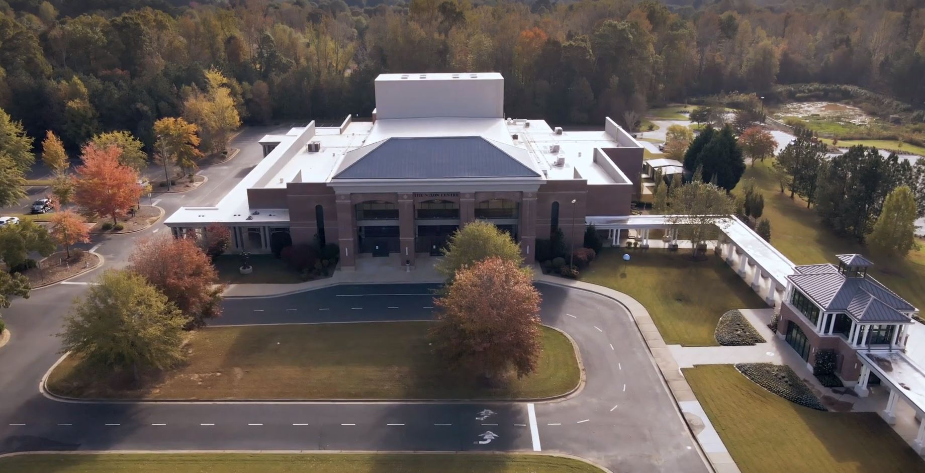 Aerial shot of the Donald W. Nixon Centre's newly renovated facility in Newnan, GA. Image courtesy of the Coweta County School System.