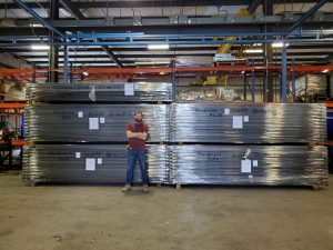 Dollar Loan Center's SkyDeck panels right before they were loaded onto the truck and shipped to Nevada.