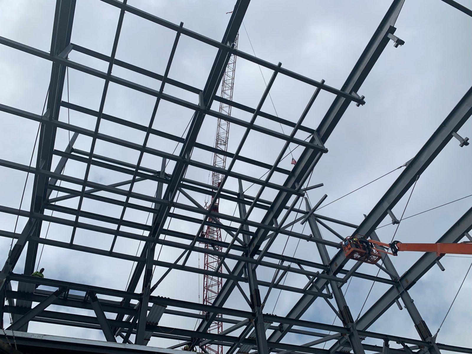 SkyDeck Canopy during construction. Photo courtesy of Choate Construction.